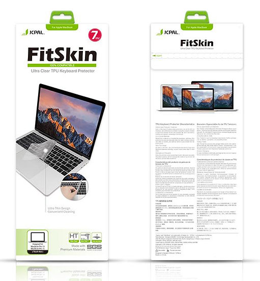JCPAL FitSkin TPU Keyboard Protector-Clear Macbook