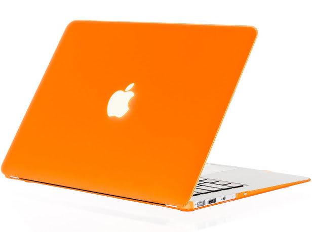 เคส Macbook สีส้ม ผิวด้าน ไม่เจาะโลโก้