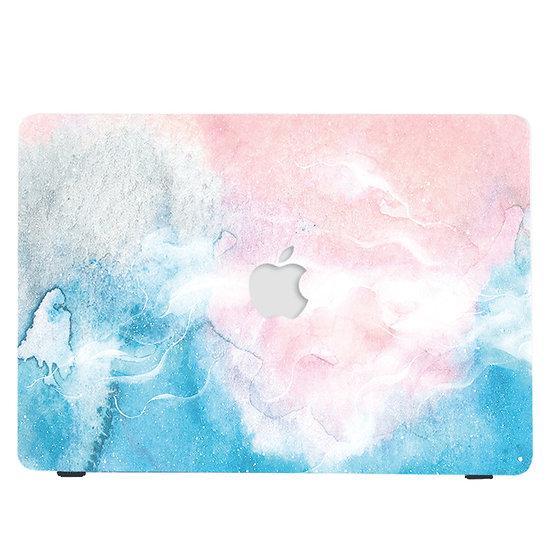 เคส Macbook ลาย Paint Brush Blue เจาะโลโก้