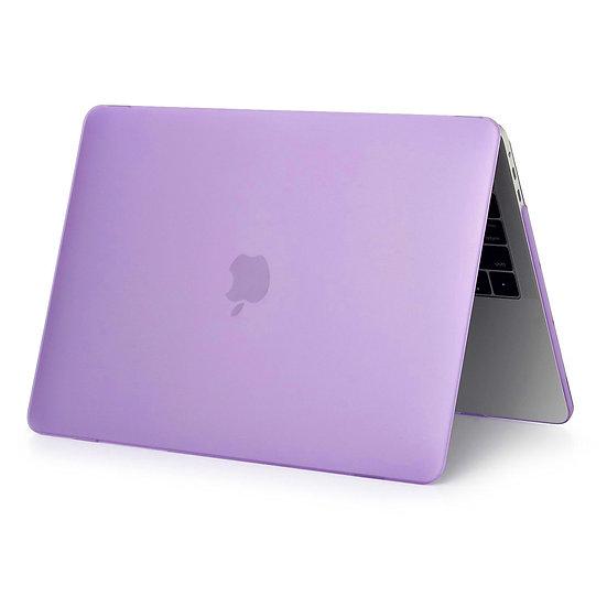 เคส Macbook สีม่วง ผิวด้าน ไม่เจาะโลโก้