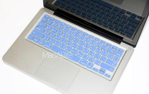 กันรอยคีย์บอร์ด สีฟ้าอ่อน มีภาษาไทย-อังกฤษ MacBook