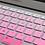 Thumbnail: กันรอยคีย์บอร์ดสีชมพูไล่โทน ภาษาอังกฤษ MacBook