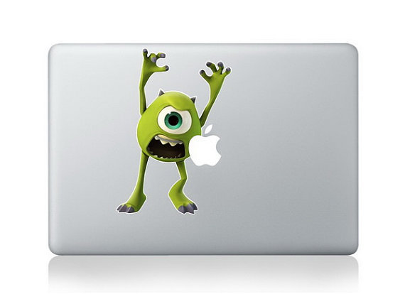 สติ๊กเกอร์ Apple Macbook Decal - Sticker Monster Inc Green