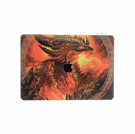 เคส Macbook ลาย Dragon เจาะโลโก้
