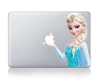สติ๊กเกอร์ Apple Macbook Decal -  Elsa frozen V1