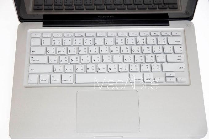 กันรอยคีย์บอร์ด สีขาว มีภาษาไทย-อังกฤษ MacBook