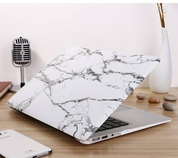 เคส Macbook ลายหินอ่อนขาว ไม่เจาะโลโก้