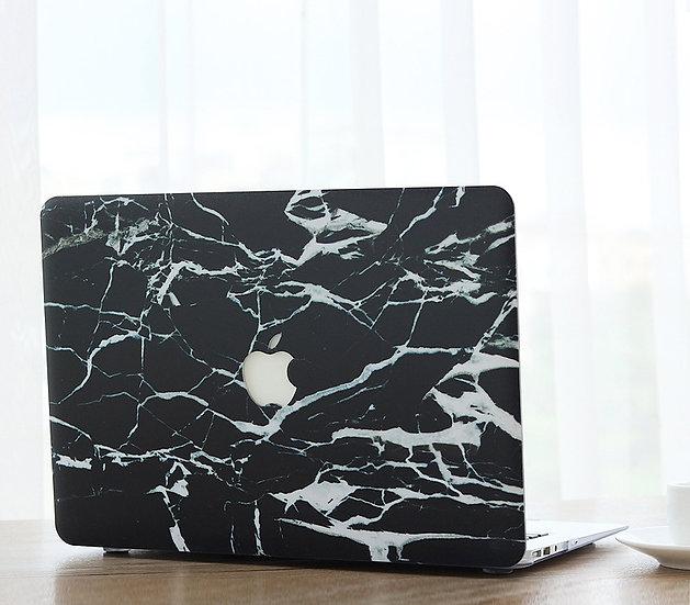 เคส Macbook ลายหินอ่อน Black&White Broken เจาะโลโก้