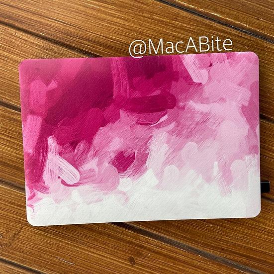 เคส Macbook ลาย Paint pink ไม่เจาะโลโก้