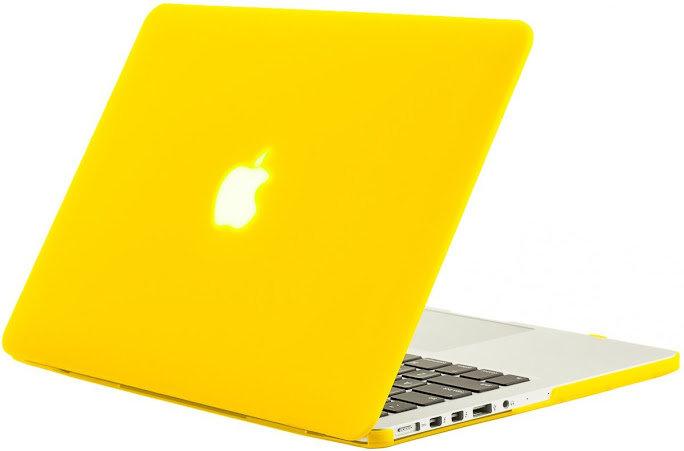 เคส Macbook สีเหลือง ผิวด้าน ไม่เจาะโลโก้