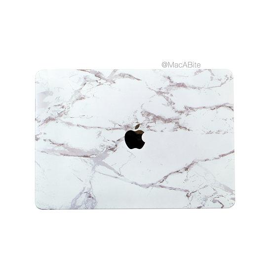 เคส Macbook ลายหินขาว เจาะโลโก้