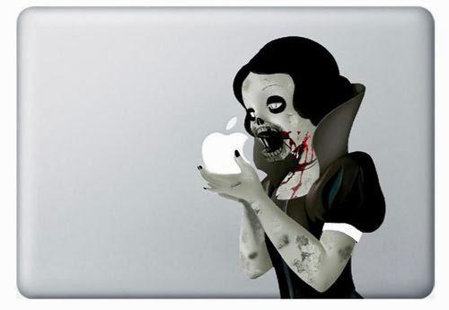 สติ๊กเกอร์ Apple Macbook Decal - Snow white Zombie sticker