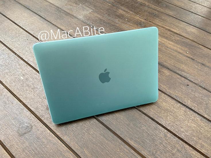 เคส Macbook สีเขียวมินท์ ผิวด้าน ไม่เจาะโลโก้