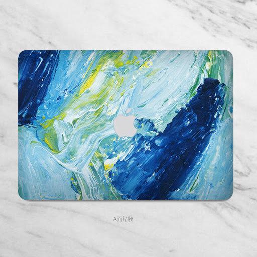 sticker ลาย paint brush ติดรอบตัวเครื่อง Macbook