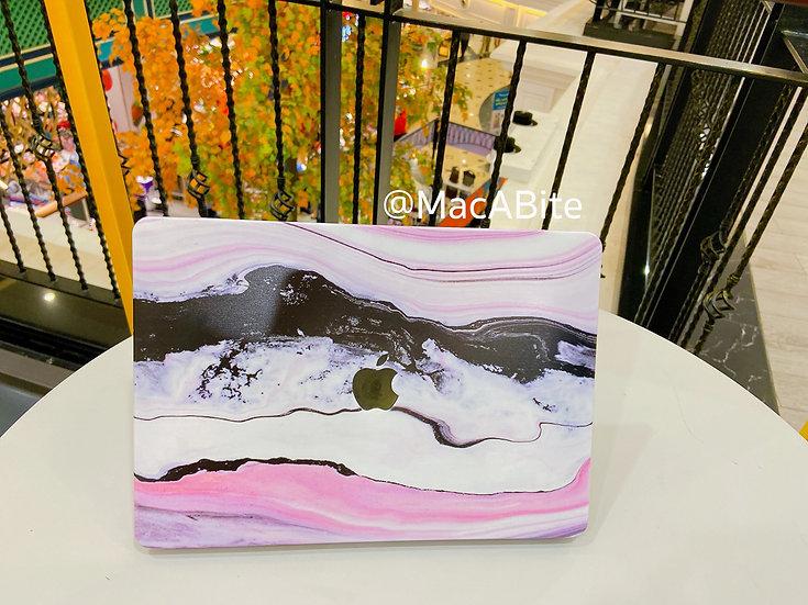 เคส Macbook ลายหินอ่อน Pink Wave เจาะโลโก้