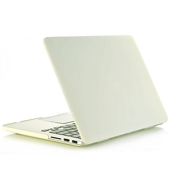 เคส Macbook สี Cream  ผิวด้าน ไม่เจาะโลโก้