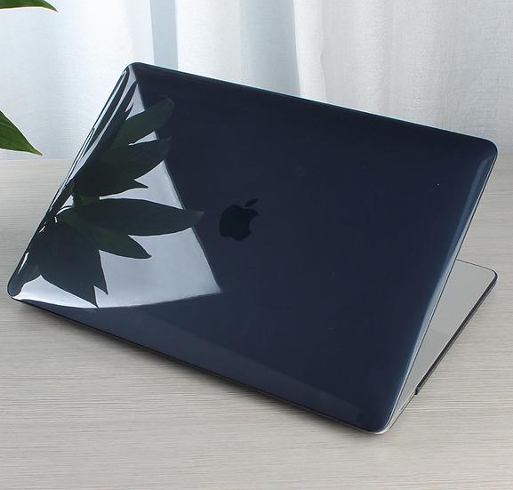 เคส Macbook สีดำใส ผิวมัน ไม่เจาะโลโก้