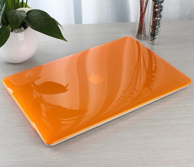เคส Macbook สีส้ม ผิวมัน ไม่เจาะโลโก้