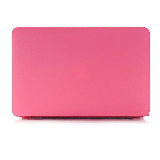เคส Macbook สีชมพู เนื้อพ่นทราย ไม่เจาะโลโก้