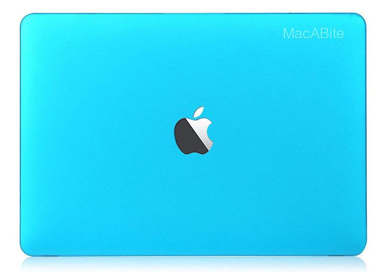 เคส Macbook สีฟ้าน้ำทะเล ผิวด้าน เจาะโลโก้