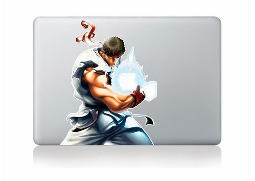 สติ๊กเกอร์ Apple Macbook Decal - Street fighter