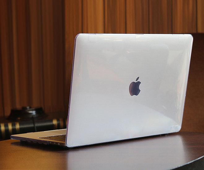 เคส Macbook สีใส ผิวมัน ไม่เจาะโลโก้