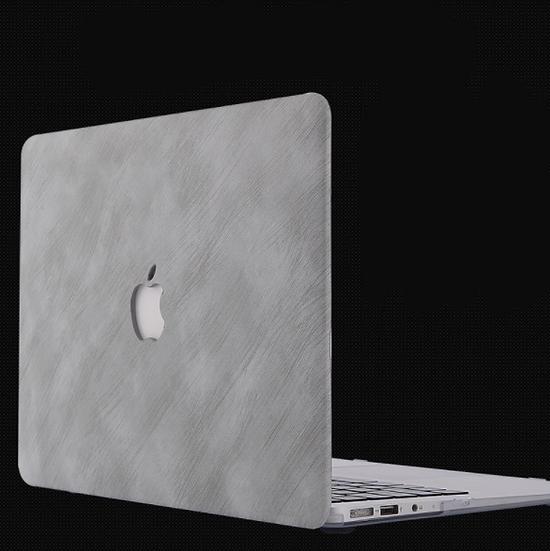 เคส Macbook ลายหินขัด เจาะโลโก้
