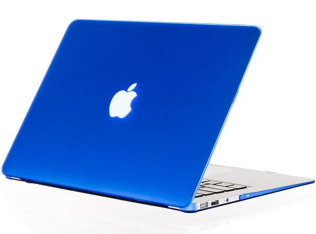 เคส Macbook สีน้ำเงิน ผิวด้าน ไม่เจาะโลโก้