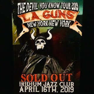 LIMITED EDITION  -Event Poster - The Iridium NYC - 04/16/19