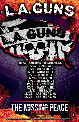 "L.A. Guns 2018 Tour Poster "" The final 12 shows"""