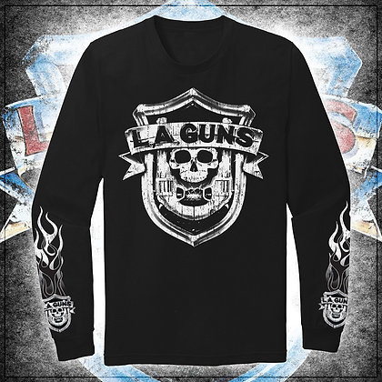 B&W Distressed OG '88 Shield Logo men's long sleeve