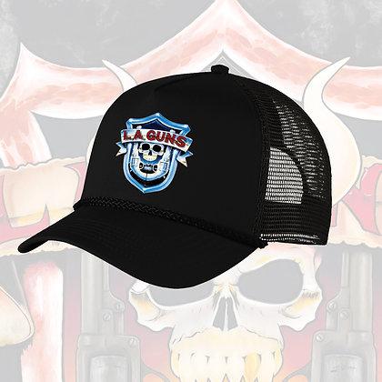 "L.A. Guns ""OG 1988 Shield"" logo trucker hat"