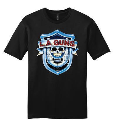 L.A. Guns Color Classic Shield Logo Men's T-Shirt
