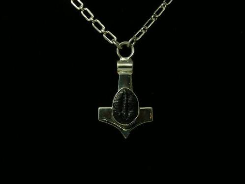 Trilobite thors hammer pendent original design art jewelry trilobite thors hammer pendent mozeypictures Image collections