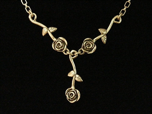 Three Rose Necklace