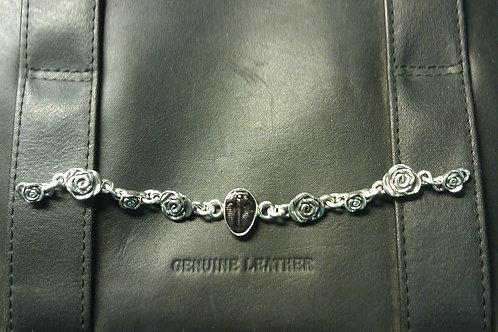 Rose Bud Bracelet with Trilobite
