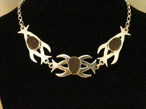 Tribal Dolphins Necklace
