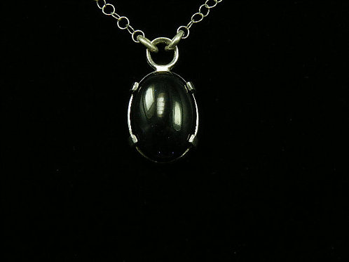 Onyx Pendent 18 by 25mm Natural Gemstone
