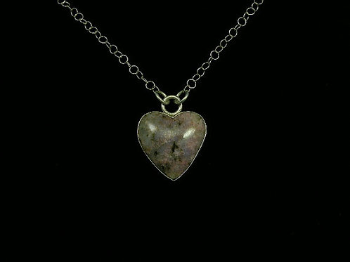 Lapidolite Heart Gemstone