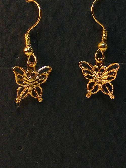 Gold Filigree Butterfly