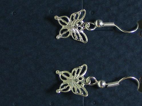 Silver Filigree Butterfly