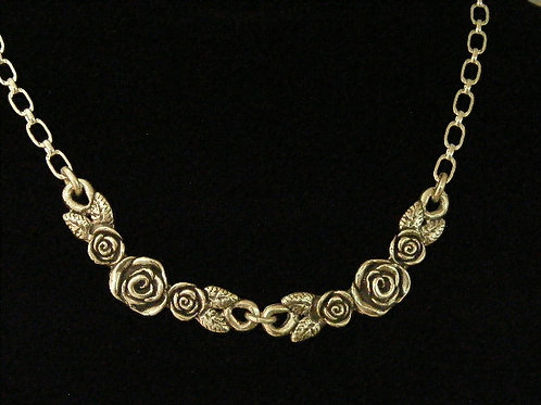 Two Rose Bar Necklace