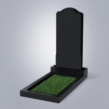 Памятник №11 Карельский гранит черный габбро 5-стор. полировка (круговая)