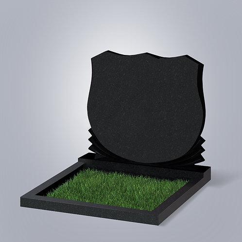 Памятник №86  Карельский гранит черный габбро 5-стор. полировка (круговая)