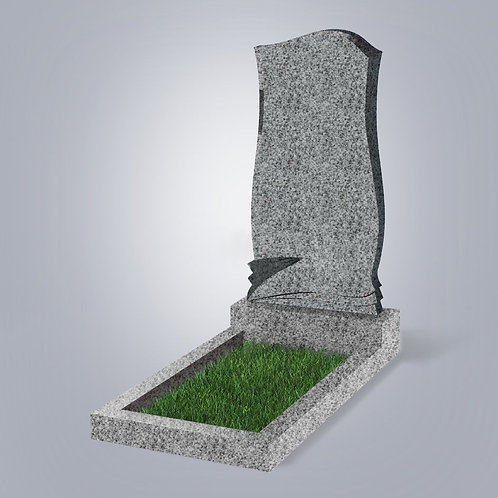 Памятник №48 гранит  Индия светло-серый  5-стор. полировка (круговая)