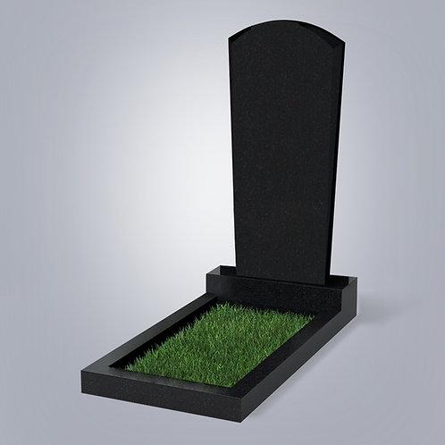 Памятник №89  Карельский гранит черный габбро 5-стор. полировка (круговая)