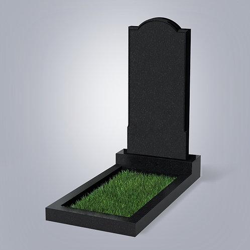 Памятник №10 Карельский гранит черный габбро 5-стор. полировка (круговая)