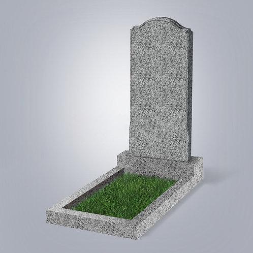 Памятник №11 гранит  Индия светло-серый  5-стор. полировка (круговая)