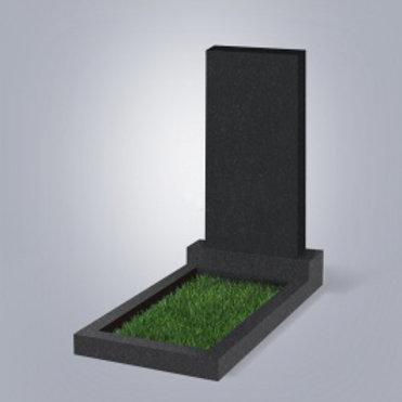 Памятник прямоугольный Карельский гранит черный габбро 1-стор. полировка лицевая