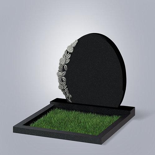Памятник №63 Гранит Индия черный габбро 5-стор. полировка (круговая)